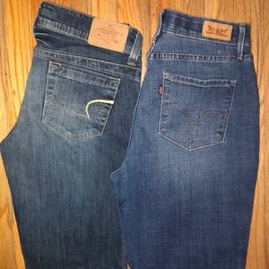 BUNDLE OF 2 WOMENS JEANS LEVIS/AE SIZE 10
